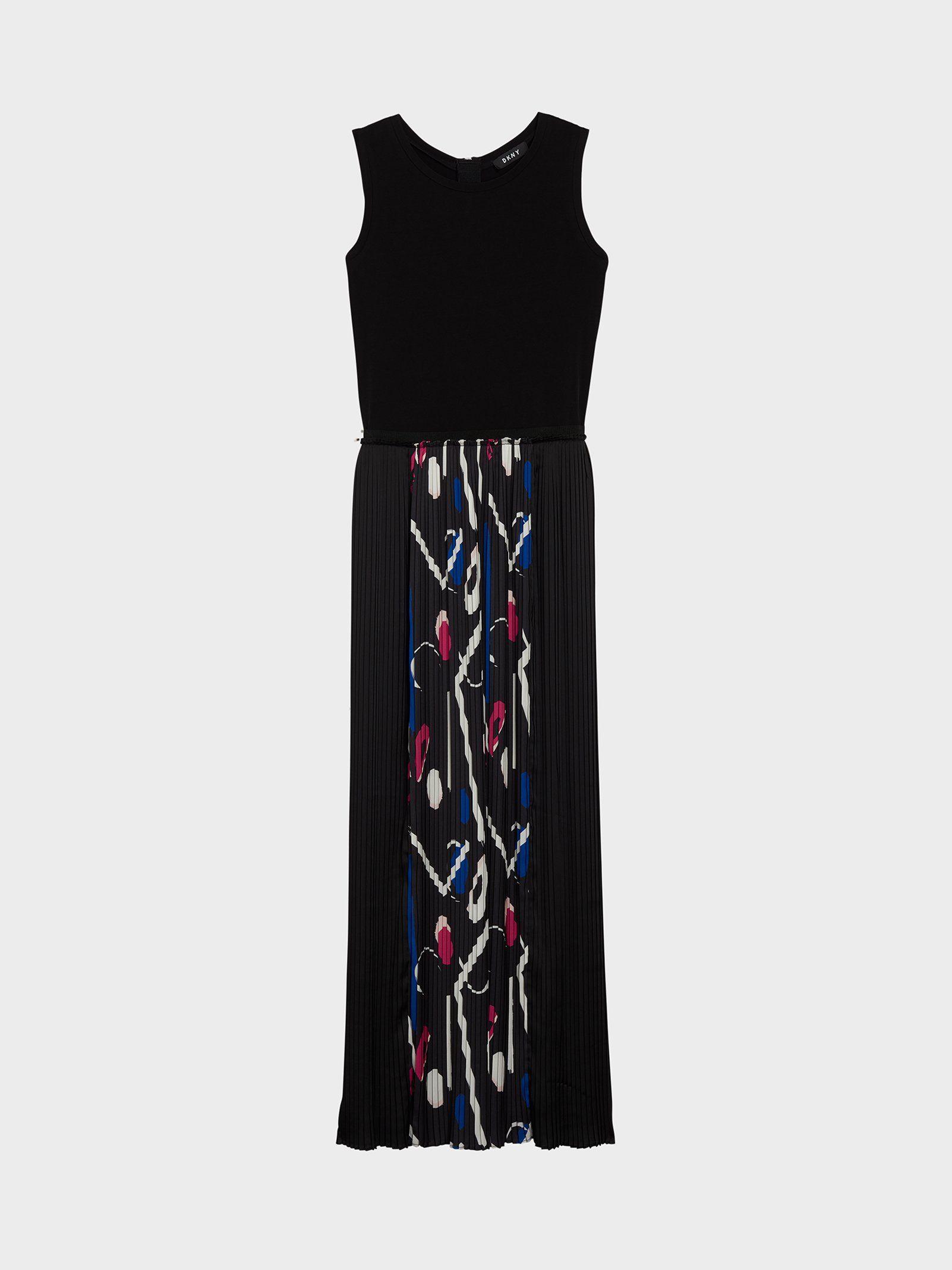 Платье-макси с плиссированной юбкой от DKNY